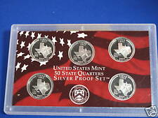 2004 S Silver Texas Statehood Quarter Gem Proof Lot Of 5 Coins