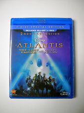 Disney Atlantis The Lost Empire & Sequel Atlantis 2 Milo's Return Blu-ray & DVD