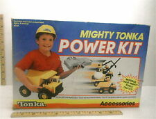 Rare 1988 Mighty Tonka Power Kit Hard Hat Tow Chain Power Pack Tires Unused