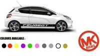 Universal Peugeot Side Racing Stripes Car Stickers Vinyl Decals Vehicle Graphics