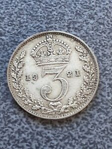 Collectable 1921  Silver Coin - Threepence - 3d - George V