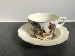 Vintage 1960/70's  Child's Porcelain Cup and Saucer Duo - Made in Japan