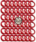 """48 RED #4 LEG BANDS 1/4"""" CHICKEN POULTRY CHICK QUAIL PIGEON DOVE DUCK GOOSE"""