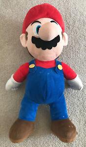 "Super Mario Plush Doll Super Mario Bros. 22"" Nintendo 2012 Blue Red Video Game"
