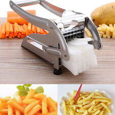 Potato Chipper Slicer French Fries Chip Cutter Vegetable Chopper Maker w/2 Blade