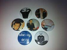 7 Gary Numan Button Badges Cars Tubeway Army Metal I am Dust gay interest