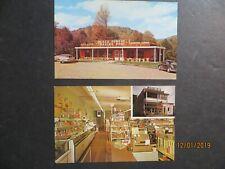 Vintage PA. Postcards Black Forest Trading Post & Martins Galeton & Ulysses