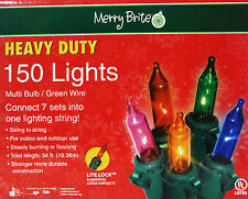 150 Multi Colored Lights Heavy Duty (Smart Bulb Technology)34Ft Indoor Outdoor