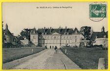 cpa FRANCE 49 - MAZÉ (Maine et Loire) Castle CHÂTEAU de MONTGEOFFROY Animé Vélo