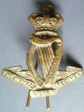 VICTORIAN The Royal Irish Regiment Cap Badge BRASS (100% Genuine*)