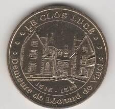 -- 2004 COIN TOKEN JETON MONNAIE DE PARIS -- 37400 LE CLOS LUCE LEONARD DE VINCI