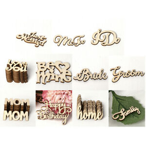 Assorted Letters Wooden Shabby Chic Craft Scrapbook Confetti Vintage Word