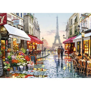 300 Pieces Kids Adult Puzzle Paris Street Eiffel Jigsaw Educational Toys Gift