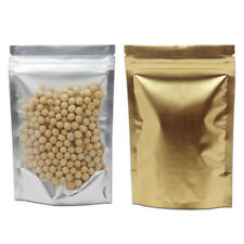 Gold Clear Aluminum Foil Bags for Zip Stand Up Food Lock Packaging Resealable