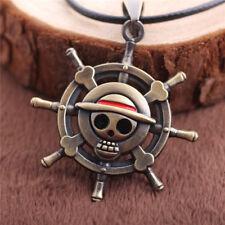 One Piece Skull Cosplay Japanese Anime Necklace Pendant Unisex Jewellery Gift UK