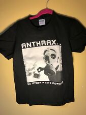 Vintage Rare Anthrax T Shirt The Other White Powder Color Black Size Med Used