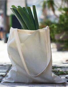 Bags By Jassz Organic Cotton Shopper Long Carry Shoulder Handle Bag (OG3842LH)