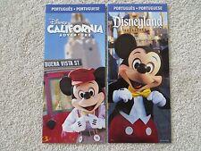 Lot of 2 Disneyland Resort Park Maps  2012 - Portuguese edition =