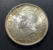Dominican Republic 1952 Peso Silver Coin