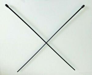 2x RC Antennenrohr Antennenröhrchen mit Kappe Halter Antenne für Empfänger black
