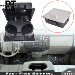 For Ford F250 F350 F450 2008-2010 Super Duty Dashboard Cup Holder Stone Gray