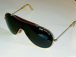vintage RAY BAN Wings Bausch & Lomb gold sunglasses green Sonnenbrille