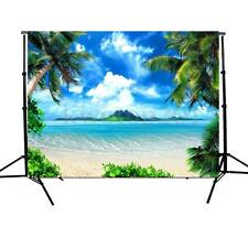 5X7Ft Photography Background Sea Sky Beach Coconut Tree Backdrop For Studio Prop