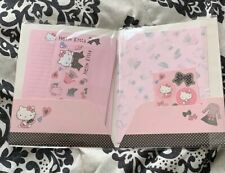 New Hello Kitty Stationery Kits Pink Note Pad, Envelopes, Stickers, Kids/Adults