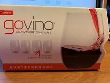 GOVINO 16-Oz Red Wine Glasses (4 Pack) | Toprack Shatterproof BPA/BPS Free