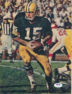Bart Starr Green Bay Packers HOF 1977 Auto Signed Magazine 8x10 Photo ~ PSA/DNA