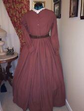 Civil War Reenactment Work Dress Size 22 Red Homespun