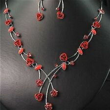 Fabulous** Crystal & Rose Necklace Set IDEAL GIFT*6*