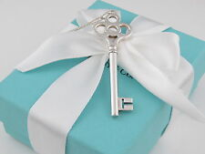 Tiffany Co Silver Crown Key Necklace Pouch Included