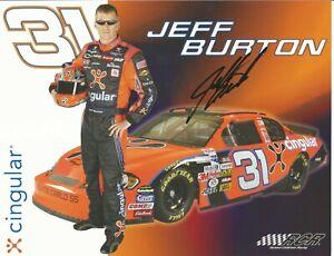 Jeff Burton Autographed 8 1/2 X 11 Postcard 2006 Cingular L@@K