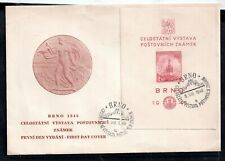 Czechoslovakia 1946 BRNO mini sheet FDC First Day Cover WS12690