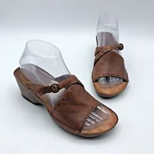 40e06b1ba565 Clarks Artisan 76866 Women Brown Leather Wedge Sandal Shoe Size 6.5M Pre  Owned