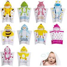Unisex Kid Bathrobe Cotton Child Baby Hooded Poncho Swim Beach Bath Towel Wear