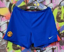 Manchester United The Red Devils Football Soccer Training Shorts Nike Mens Sz L