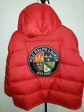 Polo Ralph Lauren Puffer Hooded Jacket Mens 2XL Cookie Patch Coat $310 NWT