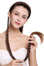 Haarteil Zopf an Haarreif geflochten super lang Tracht Kastanie Braun N1038-2T30