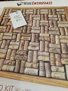 "Wine Enthusiast  22"" Wine Cork Bulletin Board Kit: Open box"