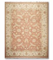 """9'1"""" x 11'10"""" Nourison Nourmak reversible Hand knotted 100% Wool Area Rug Rust"""