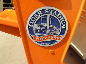 Tiger Stadium seats: Commemorative Medallion - Orange: fully restored