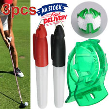 Golf Ball Marker Putting 2 Pens with Ten Finger Sign Line Drawing Tool Free