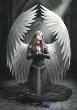 Prayer For The Fallen Greetings Card by Anne Stokes Angels and Fairies Range