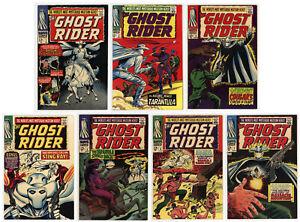 GHOST RIDER #1 - #7 - FULL SET - HIGHER GRADES BEAUTIES - 1967 - SCARCE