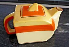 "ART DECO TEA POT 7"" x 3 1/2"" x 4 1/2"" by EDNA BEST ART POTTERY"