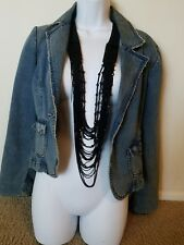 Pre-owned Denim Crop Jacket Size L