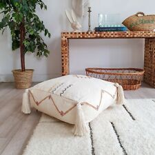 Moroccan Sabra Floor Cushion, Morocco Sabra, Cactus Silk Pouf, Moroccan Ottoman