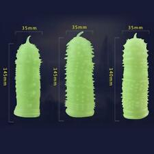 Night Light G-spot Condoms Sleeve Stretchy Enlarger Cock Girth Enhancer for Men